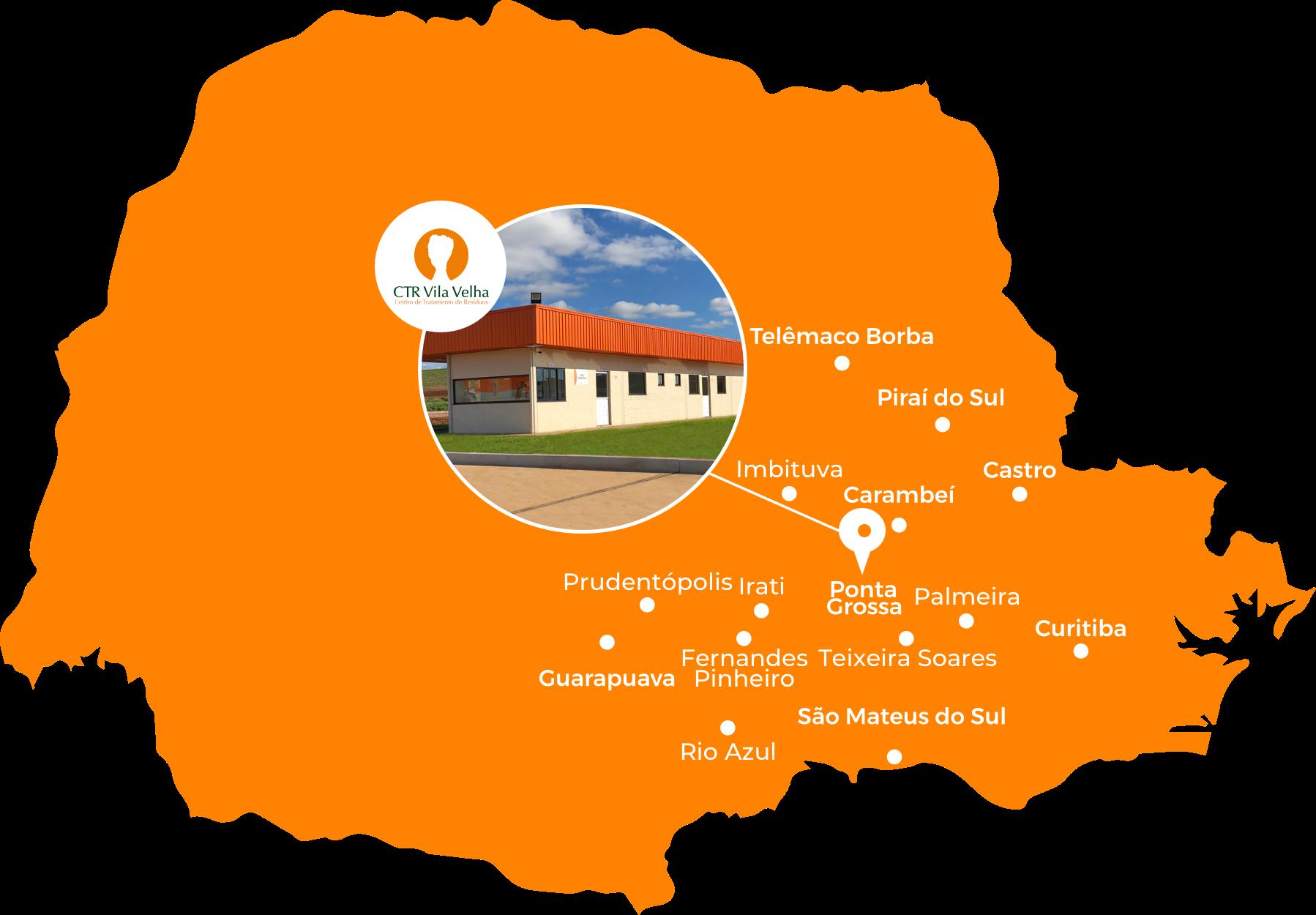Mapa de localização do CTR Vila Velha